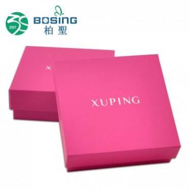 厂家定做 精美韩式彩印正方形天地盖珠宝首饰纸盒抽屉展示盒定制