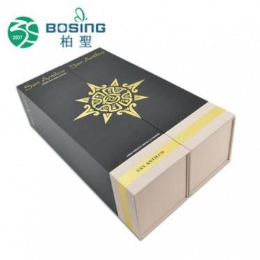 厂家定制 通用新款手提单支红酒葡萄酒纸盒双支纸质红酒包装盒子