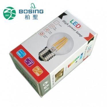 专业定制 长方形高富帅白卡纸质通用led灯泡包装纸盒球泡灯包装盒
