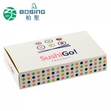 专业生产 白色环保日式寿司盒子打包寿司纸盒外卖寿司包装盒定做