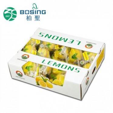 厂家直销 新鲜柠檬生鲜水果特产包装盒瓦楞纸彩色食品展示盒定做