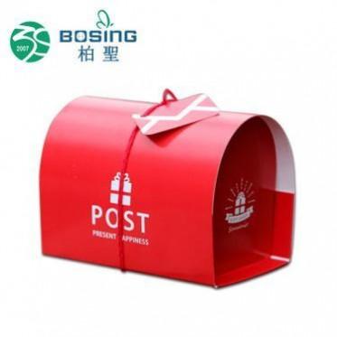厂家定做 手提一次性小西点甜品盒巧克力点心盒红色饼干糕点盒子
