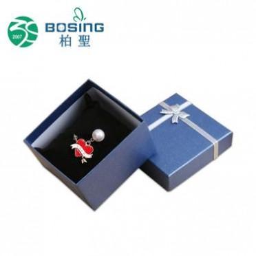 专业定制 正方形天地盖蝴蝶结私人彩印饰品展示盒首饰包装盒定做